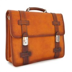 Pratesi exclusive business bag briefcase with laptop compartment made of high quality vegetable tanned leather. Handmade in Italy. Calf Leather, Leather Bag, Big Bags, Leather Briefcase, Business Fashion, Business Style, Vegetable Tanned Leather, Italian Leather, Leather Craft