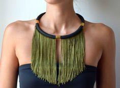 short rope fringe necklacestatement necklacewinter by PROPSfashion, €30.00