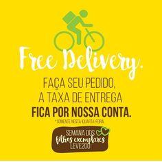 Melhor que ouvir eu te amo é ouvir free delivery! 🚴 Nos pedidos acima de R$50 a taxa de entrega é por nossa conta. 😉  Aproveite e ligue agora fazer seu pedido:  Batel Soho: ☎ 3077-3322 Centro Cívico: ☎ 3222-3333 #souleve2go #leve2go #centrocivico #batelsoho #saude #delivery