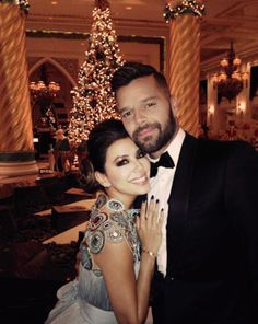 "Eva Longoria and Ricky Martin at ""Global Gift Foundation"""