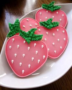 Pink strawberry cookies!