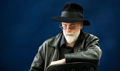 Terry Pratchett, author of the Discworld novels, who died in March.