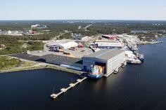 The Gulf of Bothnia Port of Kokkola. Central Ostrobothnia province of Western Finland - Keski-Pohjanmaa