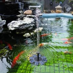 Aissimio Solar Powered Water Fountain PumpSolar Bird Bath Fountain Pump Outdoor Watering Submersible Pump for Pond Pool Garden Fish Tank Aquarium Black -- You could discover even more information by going to the photo link. (This is an affiliate link). Solar Powered Fountain Pump, Solar Water Pump, Swimming Pool Fountains, Pond Fountains, Water Fountain Pumps, Water Pond, Bath Water, Pool Waterfall, Garden Pond