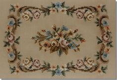 Beverley Tramé Tapestry: Large Floral Footstool