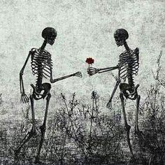 skeleton lovers Art Print by Skeleton Love, Skeleton Art, Dark Love, Skull Art, Aesthetic Art, Dark Art, Fantasy Art, Cool Art, Art Deco Posters