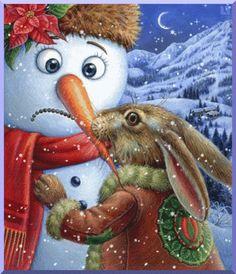 .rabbit snowman