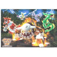 Pokemon Center 2008 Diamond & Pearl Groudon Rayquaza Heatran Gliscor Yanmega Authentic Postcard
