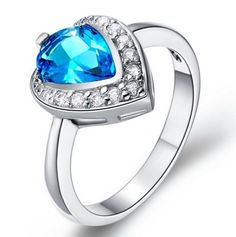 Aliexpress.com : Buy Royal luxury imported from Austria Crystal Rings Wedding Rings engagement party jewelry boutique from Reliable jewelry ...