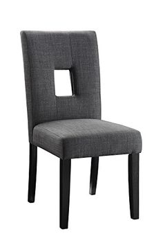 Coaster Upholstered Dining Side Chair in Gray