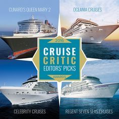 Congratulations to @CelebrityCruises, @CunardLine's Queen Mary 2, @RegentCruises, and @OceaniaCruises for their features in @CruiseCritic's Editor's Picks Award! We are proud to offer the Canyon Ranch #spa experience on all 4 cruise lines. #proudpartner