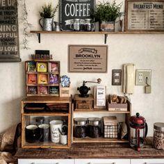 Lima coffee/セリア/カフェコーナー/写真の隅の昭和感/DIY…などのインテリア実例 - 2015-10-11 19:23:26 | RoomClip(ルームクリップ)