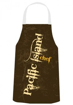 Gerard Aflague Collection Store - Chef's Apron - Pacific Islands Design - Brown Grunge, $22.99 (http://www.gerardaflaguecollection.com/chefs-apron-pacific-islands-design-brown-grunge/)