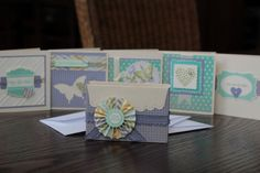 Stampin' Up! envelope box with 5 mini cards