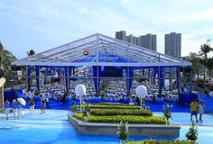 party tent - wedding tent - catering tent -  transparent tent