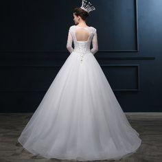 Imi LI Ya-sleeved wedding dress lace handmade flowers 2015 new Korean version of sweet tutu 14127