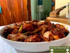 Best Deviled Chicken Recipe Sri Lankan (Simple & Tasty) - Spicy Dish Chicken Fried Noodles, Chicken Rice, Chicken Recipes At Home, Sri Lankan Recipes, Spicy Dishes, Gluten Free Banana, Stuffed Banana Peppers, Marinated Chicken, Boneless Chicken