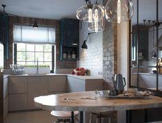 Visualization. Loft in a small apartment (kitchen). Designed by an architect Jenya Lykasova https://www.behance.net/lykasova