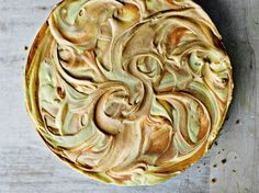 Chocolate and Toffee Marble Cheesecake from Annabel Karmel's Annabel's Family Cookbook. You can use toffee sauce or dulce de leche to create the marbled effect.