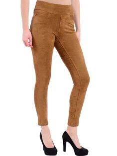 Feel like your best self in business casual looks by Canadian Designers - 3 Toronto Boutiques + Online Jeggings, Canadian Clothing, Suede Leggings, Selling Online, Business Casual, Online Boutiques, Casual Looks, Camel, Khaki Pants