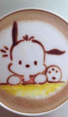 Throwback Sanrio for your morning coffee #pochacco #latteart