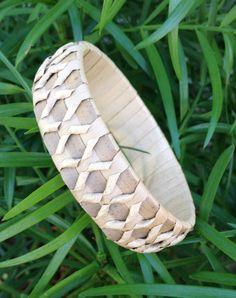Hawaiian Bracelet Traditionally Woven from Lauhala Leaves -Puniu (Knee Drum) Pattern PUNIU5/8