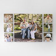 What a way to show off a recent photo shoot! Seven piece Canvas display: (6) 8x8s, (1) 26x26.