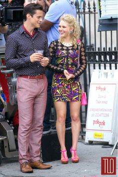 "Jake Robinson and AnnaSophia Robb on the Set of ""The Carrie Diaries"" | Tom & Lorenzo"