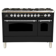 48 in. Double Oven Dual Fuel Italian Range with True Convection, 7 Burners, Griddle, LP Gas, Oiled Bronze Trim in Matte Graphite Graphite, Stainless Steel Griddle, Ranger, Dual Oven, Double Ovens, Self Cleaning Ovens, Drawer Design, Oven Range, Dreams