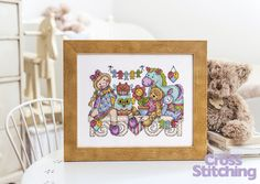 Toyshelf Friends The World of Cross Stitching Issue 217 July 2014 Saved
