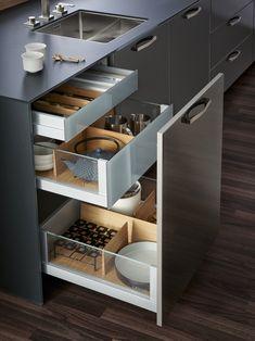 Diy storage ideas for kitchen organizing cabinets Ideas Kitchen Room Design, Kitchen Cabinet Design, Modern Kitchen Design, Home Decor Kitchen, Interior Design Kitchen, Kitchen Furniture, Kitchen Ideas, Kitchen Inspiration, Modern Kitchen Interiors