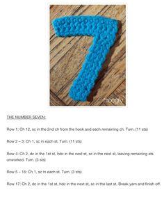 7 Crochet Numbers, Crochet Necklace, Crochet Collar