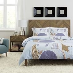 Chevron Bed | Crate and Barrel