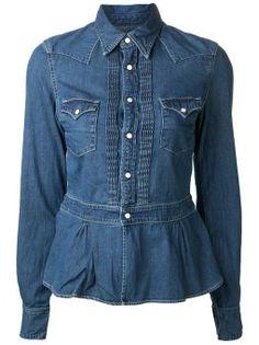 Peplum Snap Button Shirt by Kapital