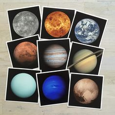 Once New Horizons did its flyby, we knew we had to celebrate all of our Planets (Pluto still counts! Get galactic with our cosmic neighbors, available in a single print grid or as nine individual prints! Space Themed Nursery, Nursery Themes, New Horizons Pluto, Alien Party, Dwarf Planet, Sistema Solar, Our Solar System, Detailed Image, Deep Space