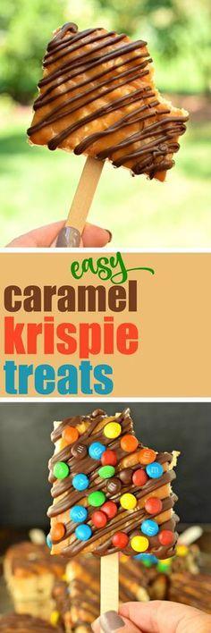 Caramel Krispie Treats