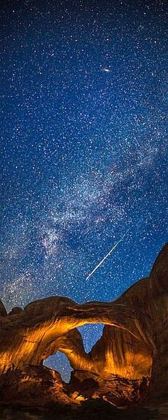 Perseid Meteor Shower, Arches National Park, Utah