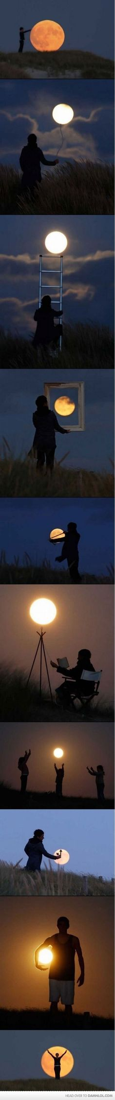 pictures with the moon. totally cool.