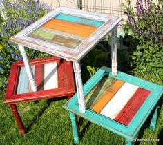 Fun side table ideas http://bec4-beyondthepicketfence.blogspot.com/2014/06/i-will-take-mine-on-side-fun-table-ideas.html