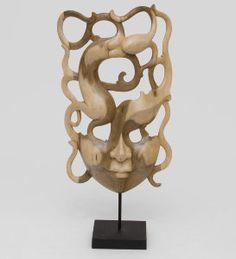 """Маска """"Абстракция"""", арт. 402809 Размер: 35см Материал:дерево Производство:Индонезия"""