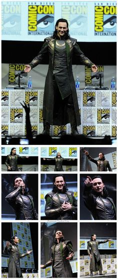 Loki. Sure - Chris is all hunky and heroic as Thor, true. The movies are titled with that name. Nothing wrong there. But who do we all love more? Who stole SDCC and more of our hearts outright with this moment? That's right. SAY HIS NAME #ComicCon #Cosply #SDCC2014
