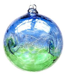 Look at this #zulilyfind! Blue & Green Van Glow Glass Ornament #zulilyfinds