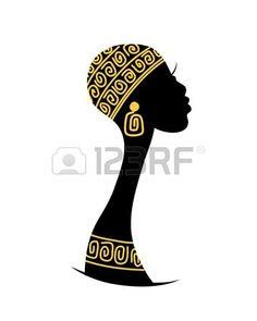 Silueta De Mujer Africana Imágenes De Archivo, Vectores, Silueta ... African Theme, African Masks, Black Woman Silhouette, Face Profile, African Art Paintings, Africa Art, Shadow Art, African Culture, Tribal Art