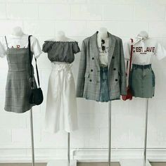 Korean Outfits Ideas photo credits to fb 💞 Kpop Fashion Outfits, Ulzzang Fashion, Stage Outfits, Edgy Outfits, Korean Outfits, Cute Casual Outfits, Pretty Outfits, Teenage Outfits, Girl Outfits