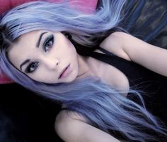 Lilac/Lavender, pastel goth.
