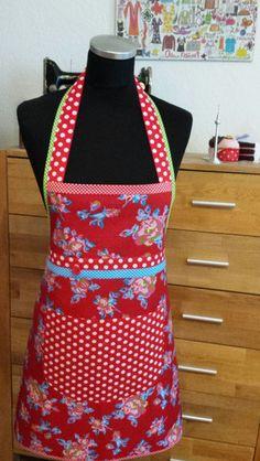 """Schürzen - """"Zauberhaft in rot"""" -  Back- und Kochschürze  - ein Designerstück von XBergDesign bei DaWanda"""