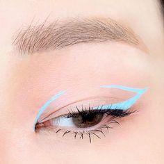 Edgy Makeup, Makeup Eye Looks, Eye Makeup Art, No Eyeliner Makeup, Kiss Makeup, Cute Makeup, Pretty Makeup, Creative Eye Makeup, Colorful Eye Makeup