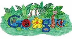 """The 2010 Doodle 4 Google winner: Makenzie Melton's Rainforest Habitat  5/26/2010 09:10:00 AM  Your millions of online votes helped us pick the winners of this year's Doodle 4 Google competition. Today, we're pleased to announce the results.    Congratulations to Makenzie Melton, a third grader at El Dorado Springs R-2 Schools in El Dorado Springs, Missouri. Her winning design, entitled """"Rainforest Habitat,"""" expressed her concern that """"the rainforest is in danger and it is not fair to the plants and animals."""" Makenzie's design triumphed over more than 33,000 student submissions from all over the country. Makenzie's colored-pencil creation beautifully embodied this year's theme."""