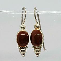 Jasper Red Enamel Silver Tone Pierced Wire Drop Earrings  #Unbranded #DropDangle 90s Jewelry, Silver Enamel, Jasper, Dangles, Wire, Drop Earrings, Ebay, Drop Earring, Cable