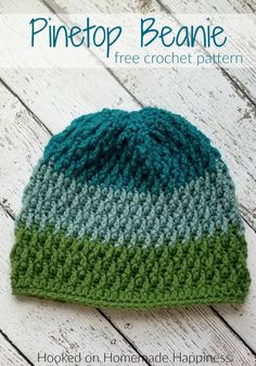Pinetop Beanie Crochet Pattern - The Pinetop Beanie Crochet Pattern uses one of my favorite stitches. the Overlapping Post Stitch. It's creates an amazing texture for this beanie. häkelschal Pinetop Beanie Crochet Pattern (Crochet Along for a Cause) Crochet Beanie Pattern, Knit Or Crochet, Crochet Crafts, Crochet Stitches, Free Crochet, Crochet Patterns, Hat Patterns, Easy Crochet Hat, Crochet Pikachu